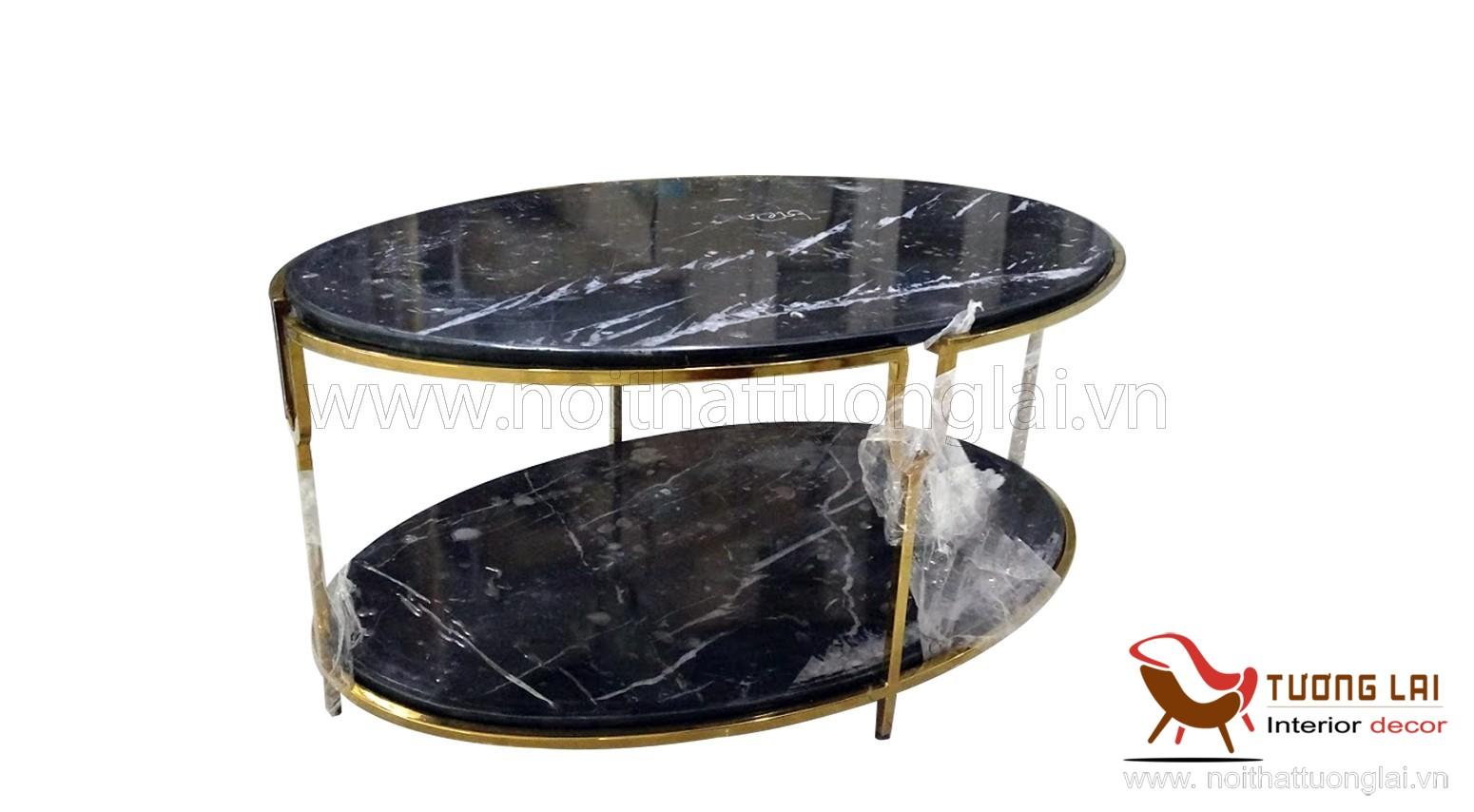 Gia công Sắt inox-bàn inox sofa hình elip si vàng
