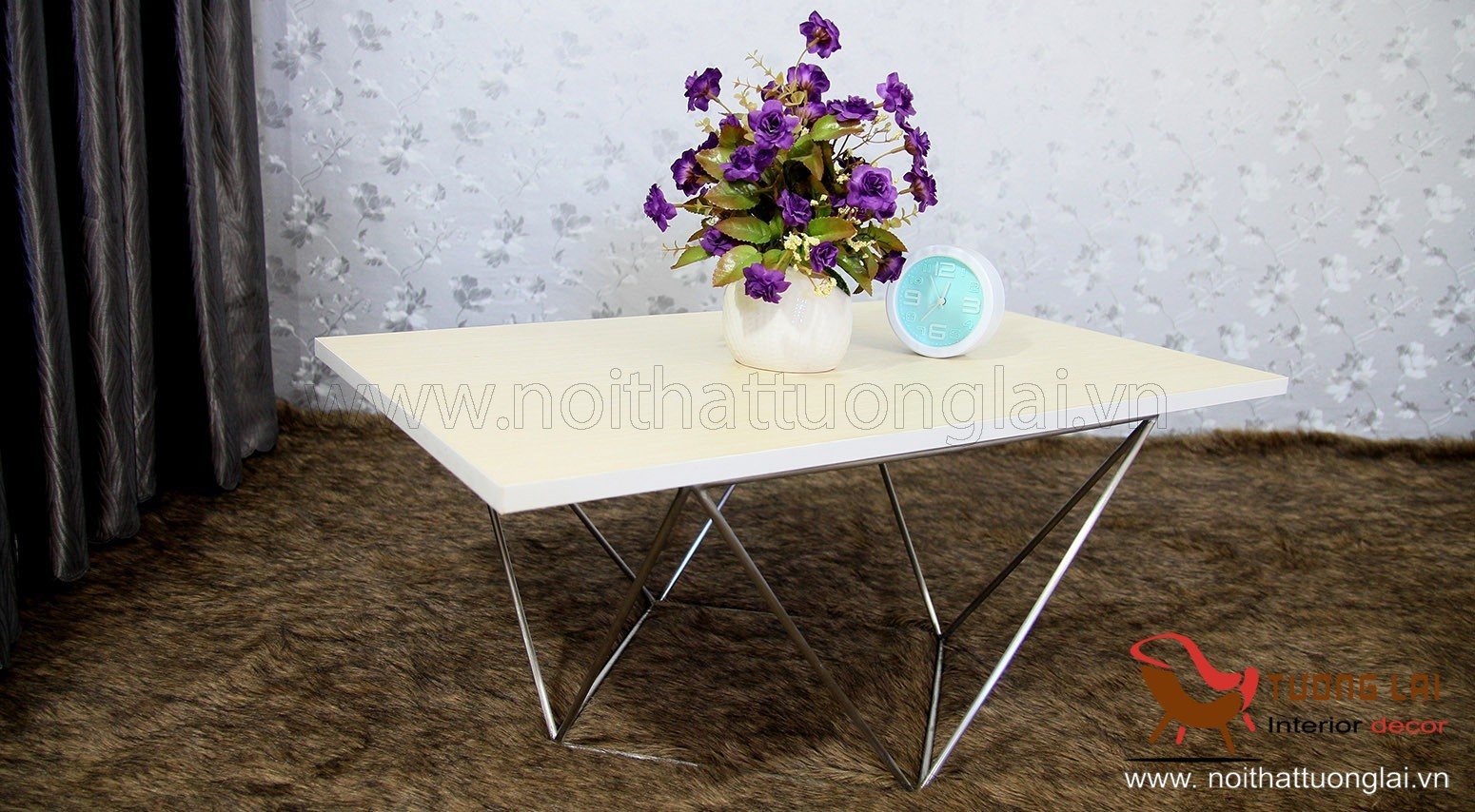 Gia công inox-Chân bàn sofa Vuông kiễu